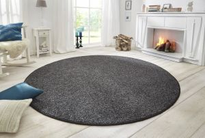 Vloerkleed Wolly Anthracite 102839 BT Carpet Rond
