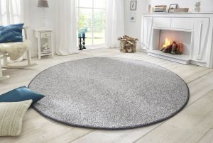 Vloerkleed Wolly Grey 102840 BT Carpet Rond