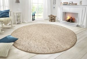 Vloerkleed Wolly Beige Brown 102842 BT Carpet Rond