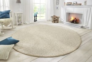 Vloerkleed Wolly Creme 102843 BT Carpet Rond