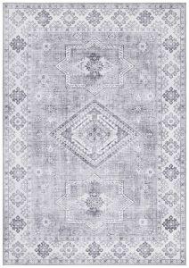 Vintage Vloerkleed Asmar graphite-Grijs 104011 Nouristan