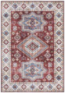 Vintage Vloerkleed Asmar ruby-Rood 104008 Nouristan