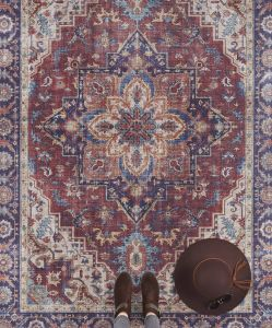 Vintage Vloerkleed Asmar plum-Rood 104000 Nouristan