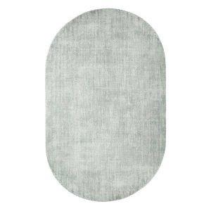 HK living Vloerkleed oval viscose mint green 150x240cm