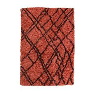 HK living vloerkleed woolen berber funky red 120x180cm