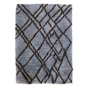 HK living vloerkleed woolen berber grey/blue 180x280cm