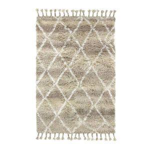 HK living vloerkleed woolen berber natural shades 120x180cm