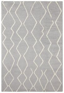 Vloerkleed GLOW  Silver grey, Cream - ELLE DECOR