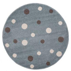 Kindervloerkleed Stippen Mint/Blauw