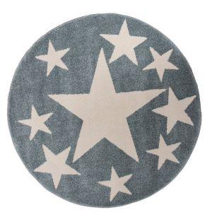 Kindervloerkleed Sterren Mint/Blauw