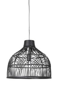 Hanglamp 48x43 cm Pocita Rotan Zwart Light & Living