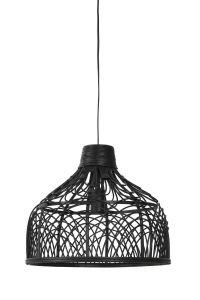 Hanglamp 42x35 cm Pocita Rotan Zwart Light & Living