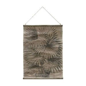 HK LIVING vintage wall chart: palm leaves