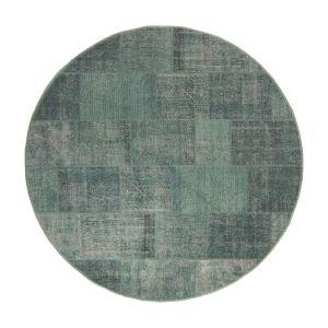 Patchwork Vloerkleed rond Groen Lara - Interieur05
