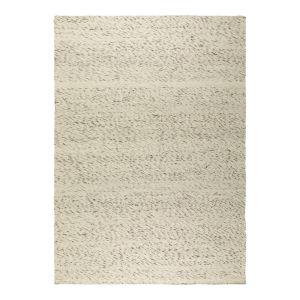 Wollen vloerkleed Wit/Antraciet - Cobble Stone