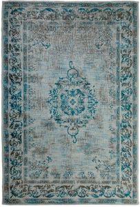 Vintage Vloerkleed Blauw/Grijs - Dae