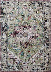The Antiquarian Heriz Collection Avlu Green 8706 - Louis de Poortere