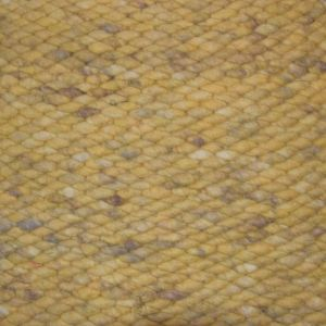 Wollen vloerkleed Geel Limone 127 - Perletta