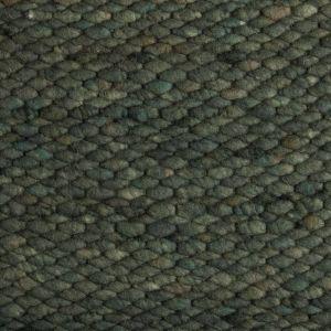 Wollen vloerkleed Donker Groen Limone 348 - Perletta