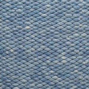 Wollen vloerkleed Licht Blauw Limone 351 - Perletta