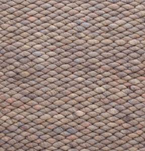 Wollen vloerkleed Grijs Bruin Limone 371 - Perletta