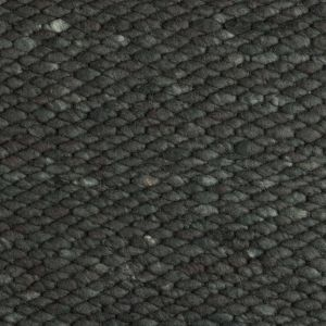 Wollen vloerkleed Antraciet Limone 373 - Perletta