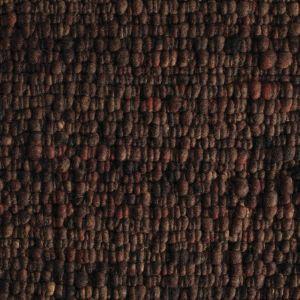 Vloerkleed Wol Donker Bruin Gravel 168 - Perletta