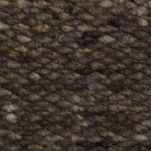 Wollen vloerkleed Antraciet Limone 038 - Perletta