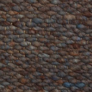 Wollen vloerkleed Blauw Bruin Limone 058 - Perletta