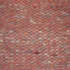 Wollen vloerkleed Zalm Roze Limone 111 - Perletta