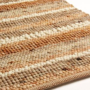 Wollen vloerkleed Greenland Stripes 1046 Bruin Multi - Brinker