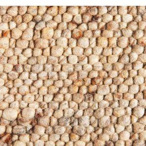 Wollen vloerkleed Marina 12 Licht Brons - Brinker