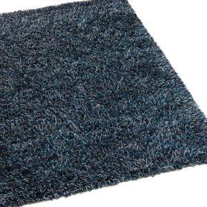 Hoogpolig vloerkleed Angora Teal Blue - Brinker