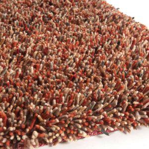 Hoogpolig vloerkleed Angora Rust Multi