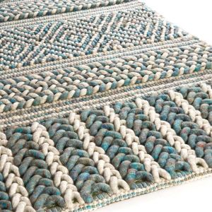 Wollen Vloerkleed Marrakech 425 Wit Blauw - Brinker