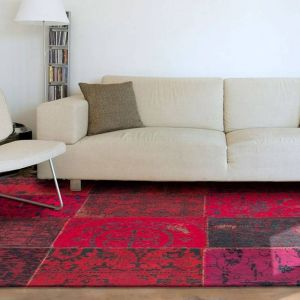 Vintage Vloerkleed Red 8014 - Louis de Poortere