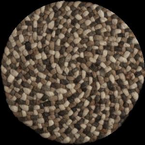 Rond vloerkleed Roundabout Mix 736 Taupe - Perletta