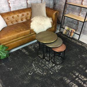 Vintage vloerkleed Zwart - Dae