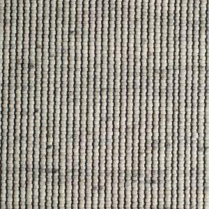 Wollen Vloerkleed Wit Grijs Bitts 003 - Perletta