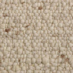 Wollen Vloerkleed Wit Beige Pebbles 001 - Perletta