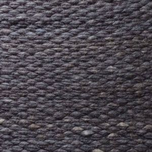 Wollen Vloerkleed Antraciet Blauw Finesse 034 - Perletta