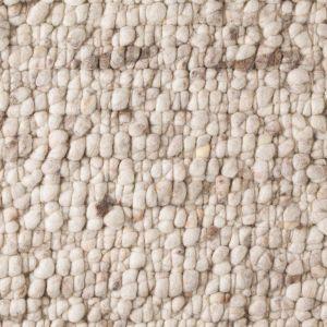 Wollen Vloerkleed Beige Boulder 002 - Perletta