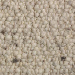 Wollen Vloerkleed Wit Grijs Pebbles 003 - Perletta