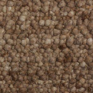 Wollen Vloerkleed Licht Bruin Pebbles 004 - Perletta