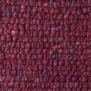 Wollen Vloerkleed Bordeaux Rood Boulder 091 - Perletta