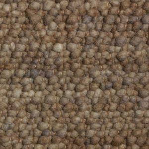 Wollen Vloerkleed Bruin Pebbles 048 - Perletta