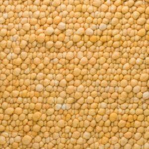 Wollen Vloerkleed Geel Pebbles 120 - Perletta