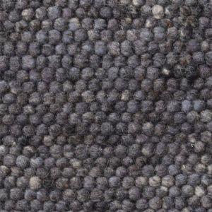 Wollen Vloerkleed Antraciet Blauw Neon 034 - Perletta