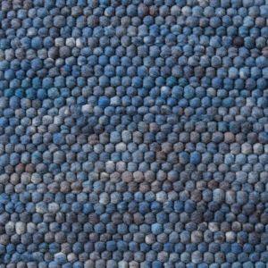 Wollen Vloerkleed Blauw Neon 153 - Perletta