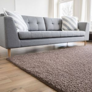 Hoogpolig Vloerkleed Taupe - Shaggy Collection
